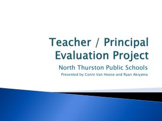 Teacher / Principal Evaluation Project