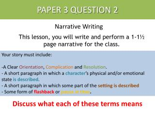 how to write in narrative form
