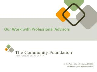 Our Work with Professional Advisors