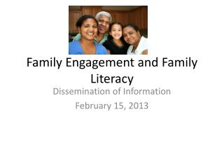 Family Engagement and Family Literacy