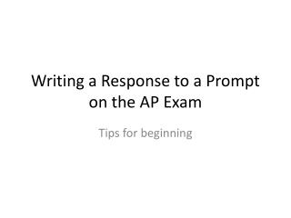 ap essay writing powerpoint Don't have a paper watch this video, and get the inside scoop on how to write  a killer thesis statement  essay writing / writing elements and process tags.