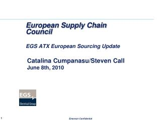 European Supply Chain Council