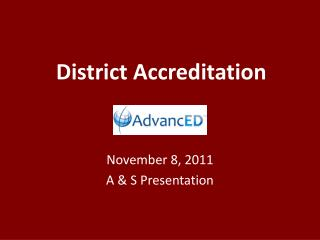 District Accreditation