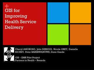GIS for Improving Health Service Delivery