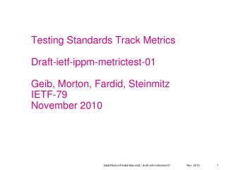 Draft-ietf-ippm-metrictest-01 Proposed definition of easy and difficult metrics to be tested
