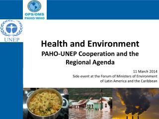 Health  and  Environment PAHO-UNEP  Cooperation and the Regional  Agenda