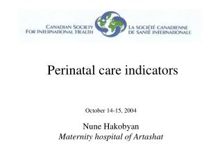 Perinatal care indicators