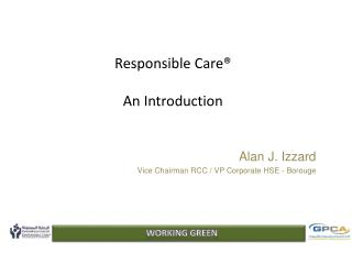 Responsible Care® An Introduction