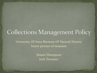 Collections Management Policy