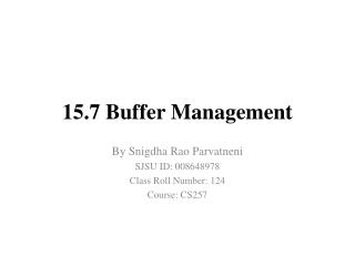 15.7 Buffer  Management