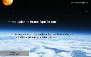 Introduction to Brand Equilibrium