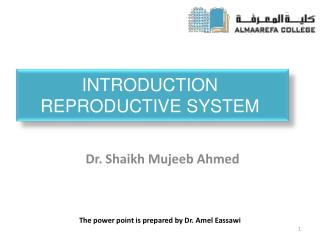 Introduction  Reproductive System