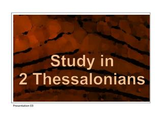 Study in 2 Thessalonians