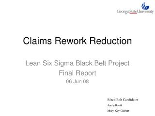 Claims Rework Reduction