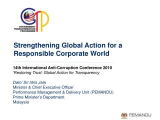 Strengthening Global Action for a Responsible Corporate World