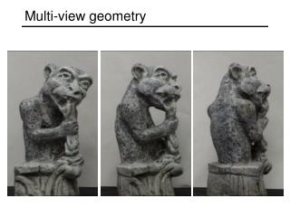 Multi-view geometry