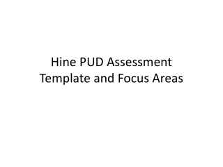 Hine PUD Assessment Template and Focus Areas