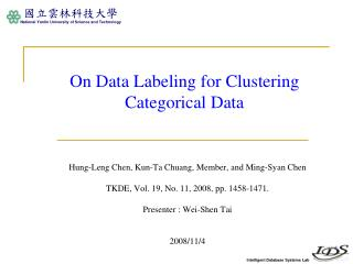 On Data Labeling for Clustering Categorical Data