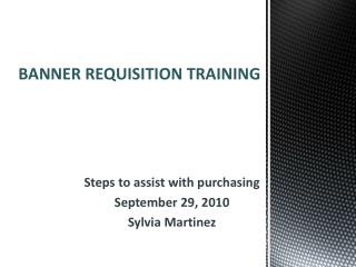 BANNER REQUISITION TRAINING