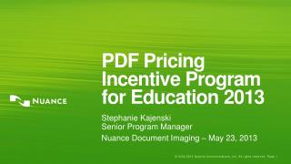 PDF Pricing Incentive Program for Education 2013