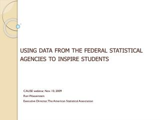 using data from the federal statistical agencies to inspire students