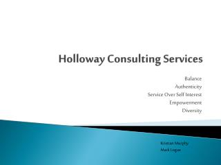 Holloway Consulting Services