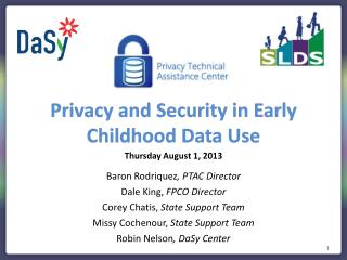 Privacy  and Security in Early Childhood Data Use