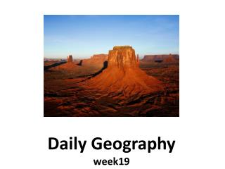Daily Geography week19