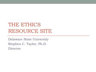 The Ethics Resource Site