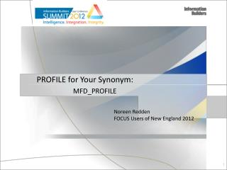 PROFILE for Your Synonym: