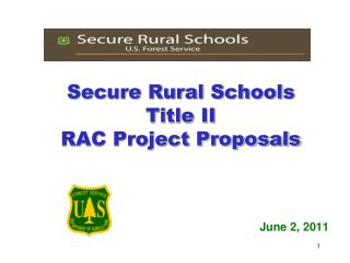 Secure Rural Schools Title II  RAC  Project Proposals