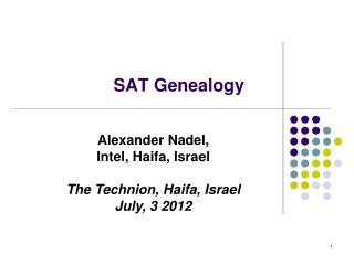 SAT Genealogy