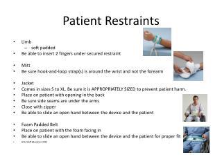 Patient Restraints