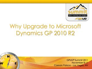 Why Upgrade to Microsoft Dynamics GP 2010 R2
