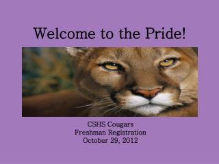 Welcome to the Pride!