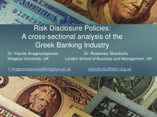 Risk Disclosure Policies: A cross-sectional analysis of the Greek Banking Industry