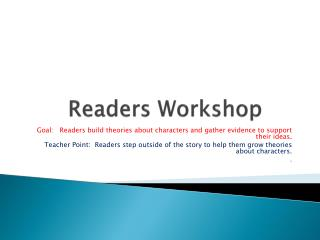 Readers Workshop