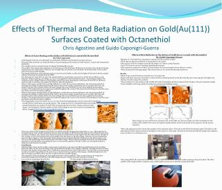 Effects of Laser Heating on the Surface of Gold(Au(111)) coated with  Octanethiol