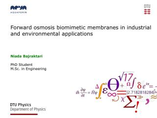 Forward osmosis biomimetic membranes in industrial and environmental applications