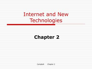 Internet and New Technologies