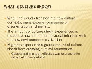 What is culture shock?