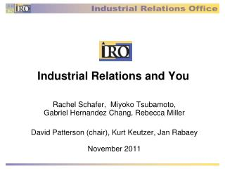 Industrial Relations and You