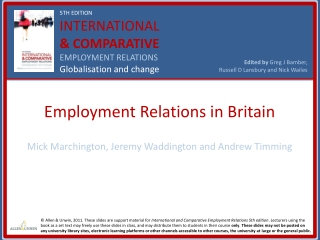 The State and Employment Relations