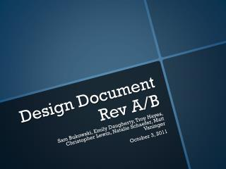 Design Document Rev A/B