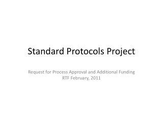 Standard Protocols  Project