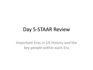 Day  5-STAAR  Review