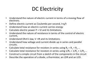 DC Electricity
