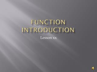 Function  Introduction