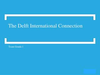 The Delft International Connection