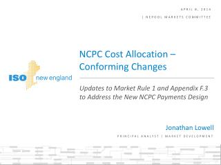 April 8, 2014  | NEPOOL markets committee